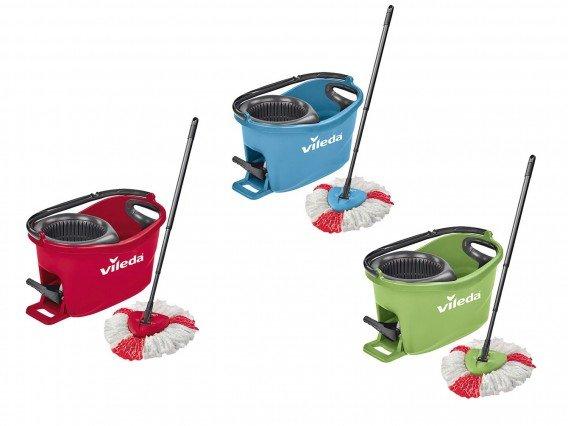 Mop rotativ Vileda EasyWring&Clean Turbo Color (Rosu)