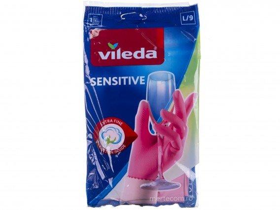 Manusi menaj cu interior bumbac Vileda Sensitive (Large-L)